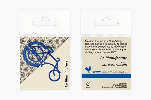 La manufacture marque page bleuroydesign - La manufacture saint etienne ...